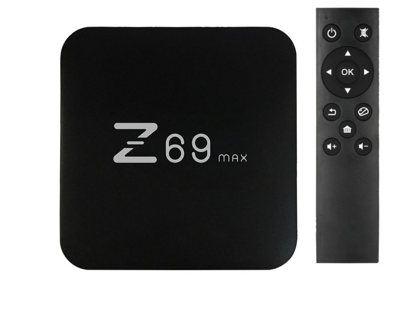 Z69 Max TV Box and remote