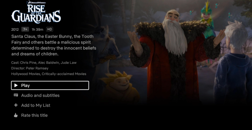 Netflix In HD format Xiaomi Mi Box S
