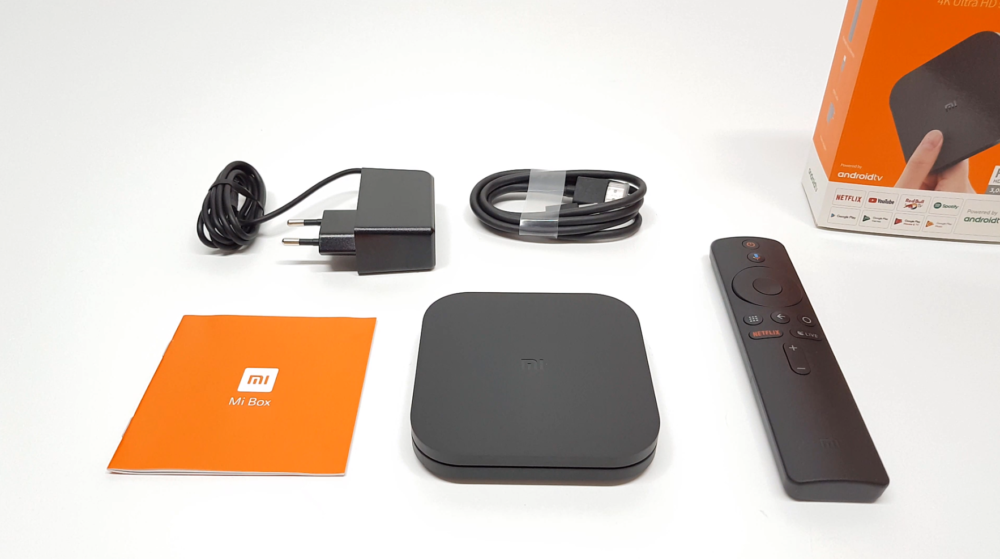 F:\Products 1TB\Xiaomi Mi Box S\pics\Xiaomi Mi Box S IN the box contents.