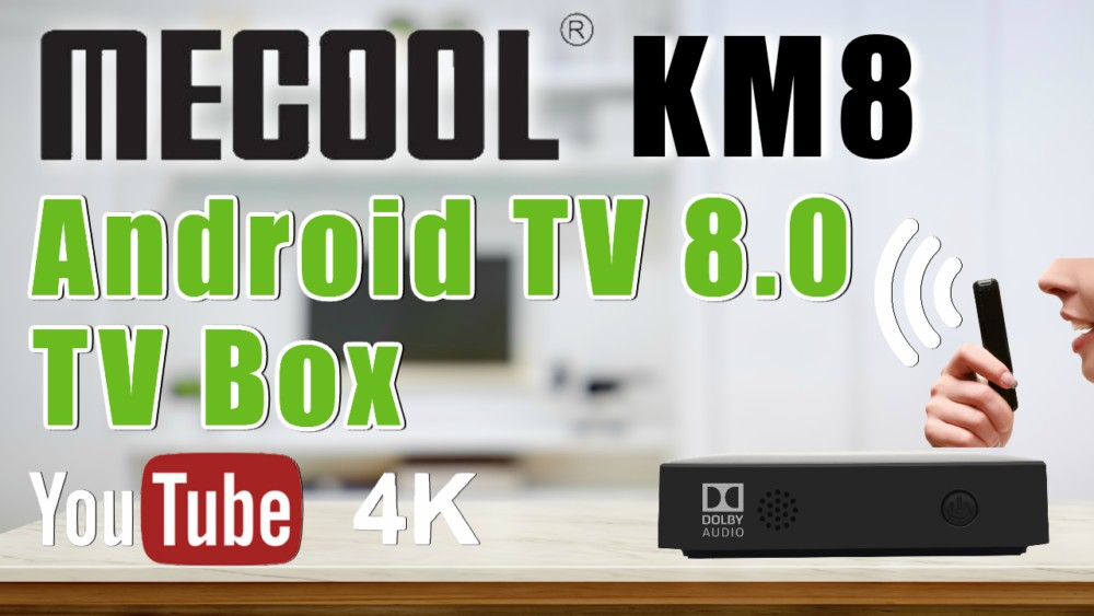 Mecool KM8 Android TV box, Mecool KM8 Android 8.0 4K TV box, Mecool KM8 Amlogic S905X Quad Core TV box, Mecool KM8 voice remote TV box