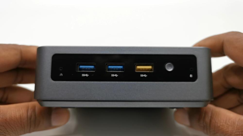 Kodlix GK45 Mini PC Front Ports