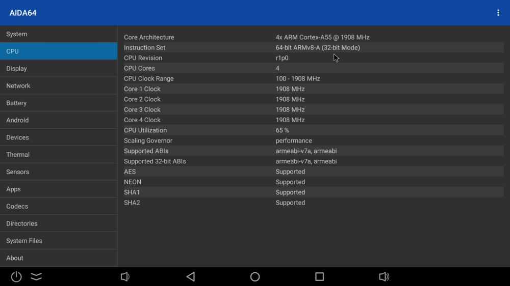 Ugoos X3 Cube CPU info