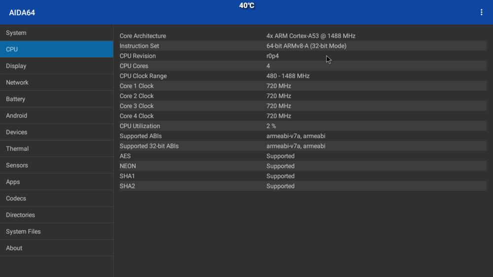 H96 Mini Allwinner H6 6K CPU Info