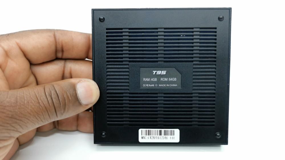 T95 Allwinner H616 bottom vents
